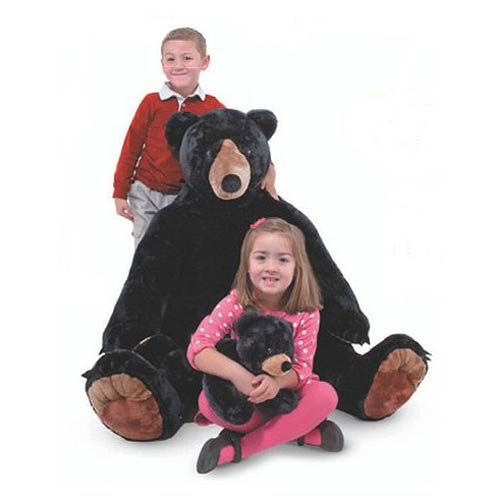 Black Bear and Cub 34 1/2-Inch Plush 2-Pack