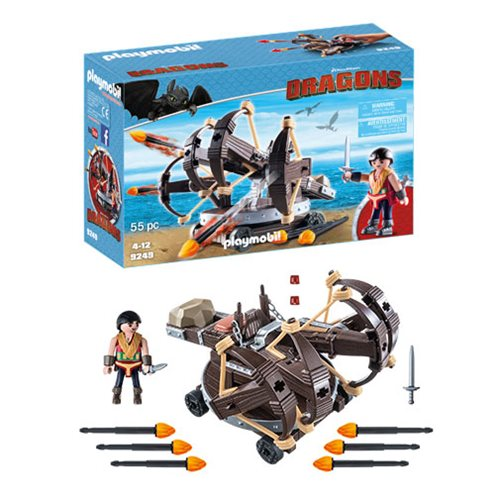 Playmobil 9249 How to Train Your Dragon Eret with Fire Ballista Action Figure Set