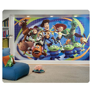 Toy Story Chair Rail Giant Ultra-Strippable Prepasted Mural