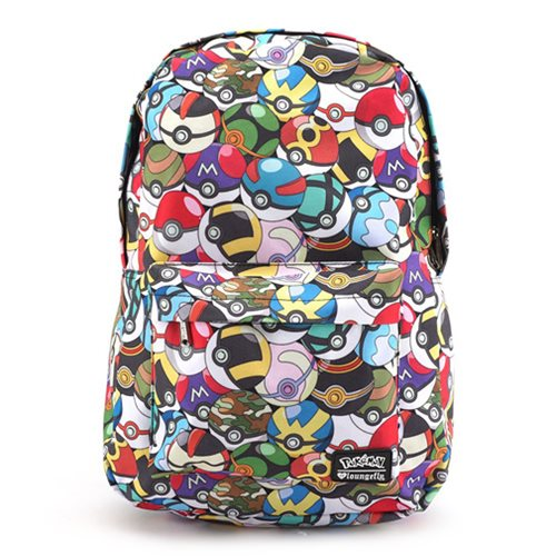 Pokemon Multi Pokeball Print Backpack