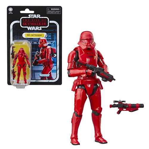 Star Wars The Vintage Collection The Rise of Skywalker Sith Jet Trooper 3 3/4-Inch Action Figure, Not Mint