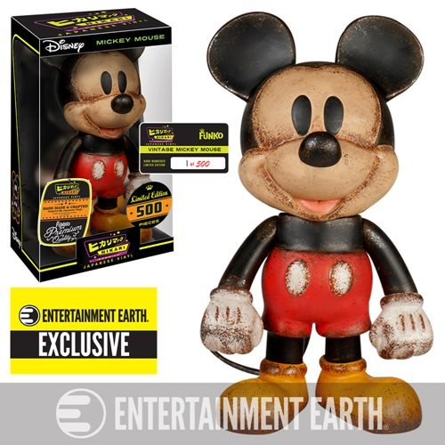 Mickey Mouse Vintage Premium Hikari Sofubi Vinyl Figure - Entertainment Earth Exclusive