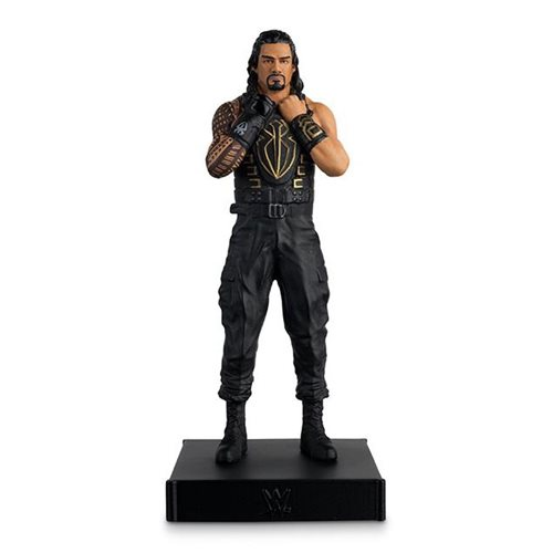 WWE Championship Collection Roman Reigns Statue with Collector Magazine
