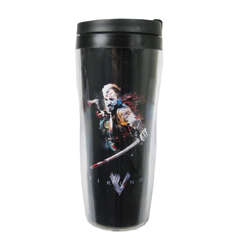 Vikings Fighting with Sword Travel Mug