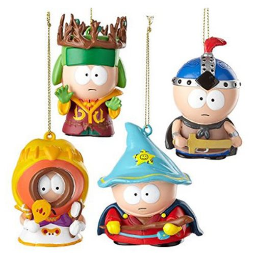 South Park Stick of Truth Blow Mold Figural Ornament Set