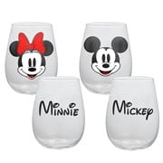 Mickey Mouse and Minnie 18 oz. Contour Glass Tumbler 2-Pack