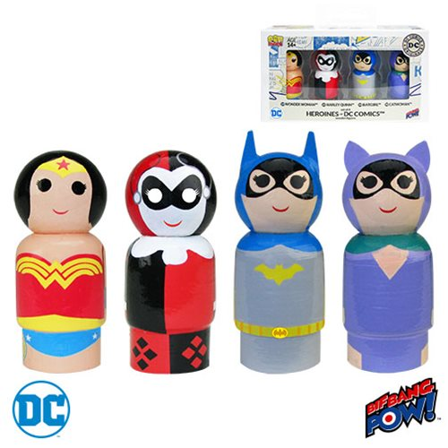 Heroines of DC Pin Mate Wooden Figure Set of 4