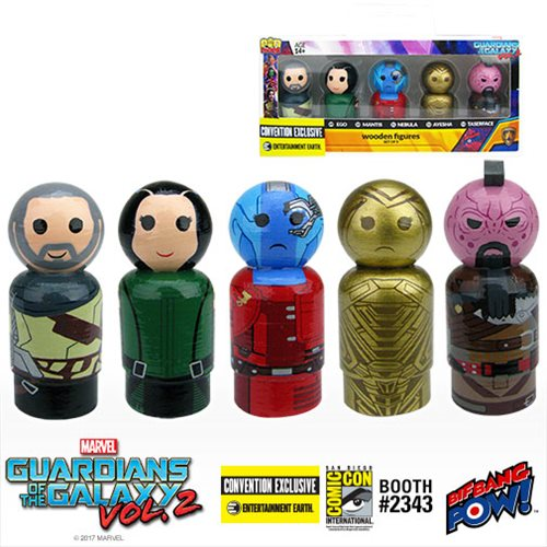Bif Bang Pow 2 Pin Mate Wooden Figure Set Guardians of the Galaxy Vol