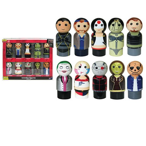 Suicide Squad Pin Mate Wooden Figure Set of 10 - Convention Exclusive