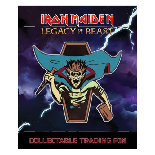 Iron Maiden Legacy of the Beast Vampire Hunter Eddie Lapel Pin