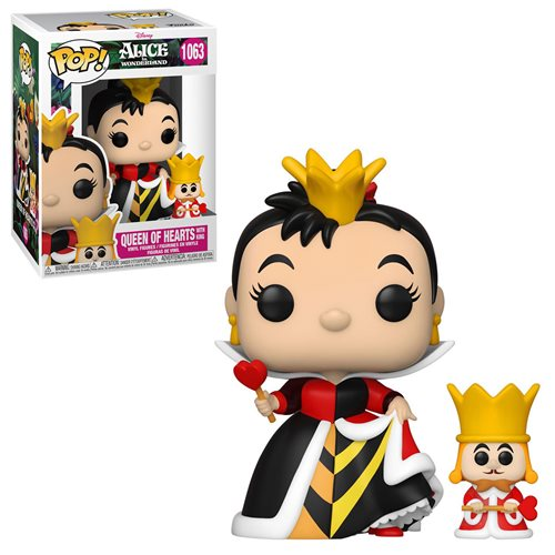 Alice in Wonderland 70th Anniversary Queen with King Pop! Vinyl Figure and Buddy