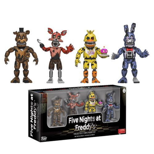 Five Nights at Freddy's Nightmare 2-Inch Vinyl Figure Set