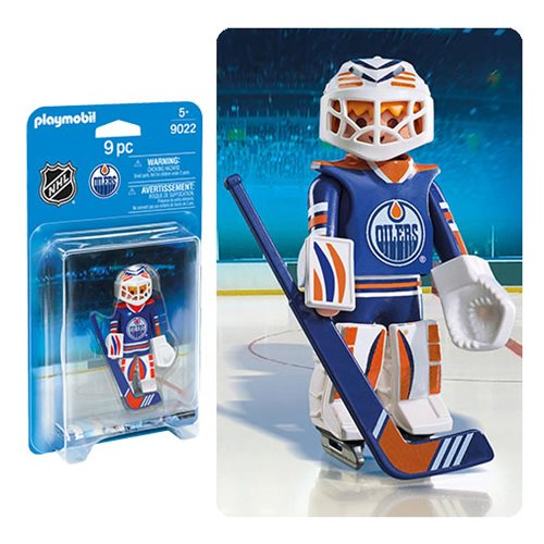 Playmobil 9022 NHL Edmonton Oilers Goalie Action Figure