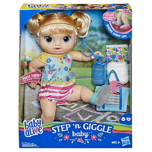 Baby Alive Step n Giggle Baby Blonde Hair Doll