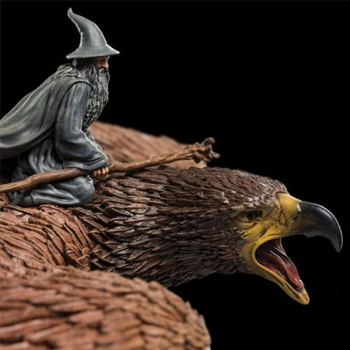 The Lord of the Rings Gandalf on Gwaihir Mini-Statue