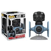 Star Wars TIE Fighter Vinyl Vehicle with TIE Pilot Deluxe Pop! Vinyl Bobble Head #221, Not Mint