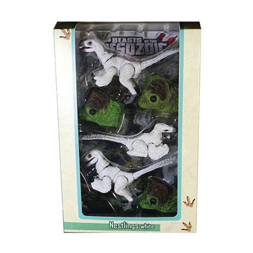 Beasts of Mesozoic Raptor Series White Nestlings 1:6 Scale Action Figure Set