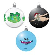Rick and Morty Decal 3 1/7-Inch Ball Ornament 3-Pack