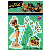 DC Comics Bombshells Mera Vinyl Decal - Previews Exclusive