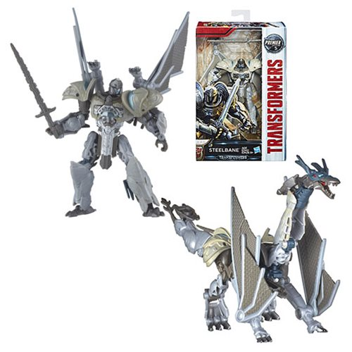 Transformers The Last Knight Premier Deluxe Steelbane, Not Mint