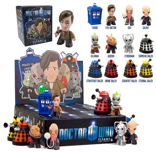 """Titans 3/"""" Vinyl Figures BBC Doctor Who Series 1 Collection 11th Doctor"""