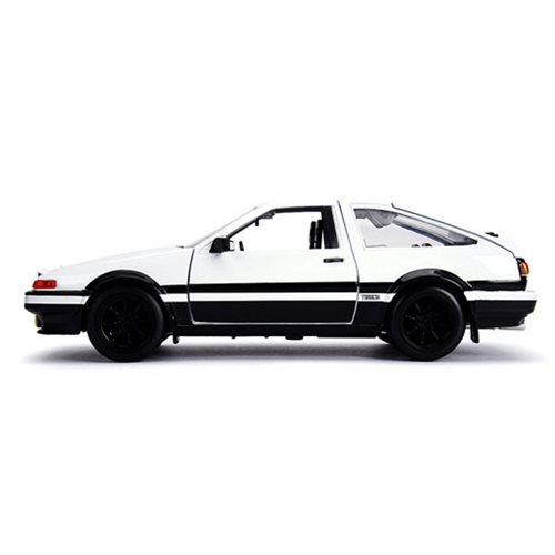 Initial D Hollywood Rides 1986 Toyota Trueno AE86 1:24 Scale Die-Cast Metal Vehicle