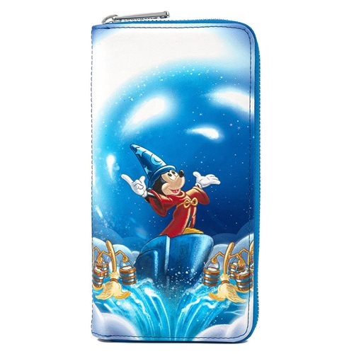 Disney Fantasia Sorcerer Mickey Mouse Zip-Around Wallet