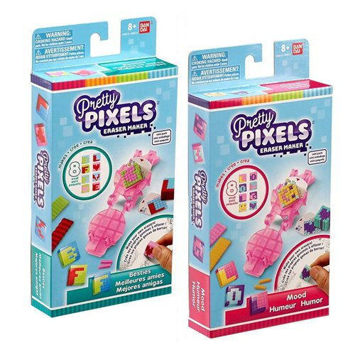 Pretty Pixels Eraser Maker Mini-Pack Set