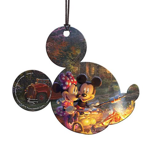Mickey and Minnie Sweetheart Campfire Thomas Kinkade Hanging Acrylic Print