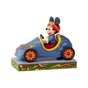 Disney Traditions Soap Box Derby Mickey Mouse Mickey Takes the Lead Statue by Jim Shore