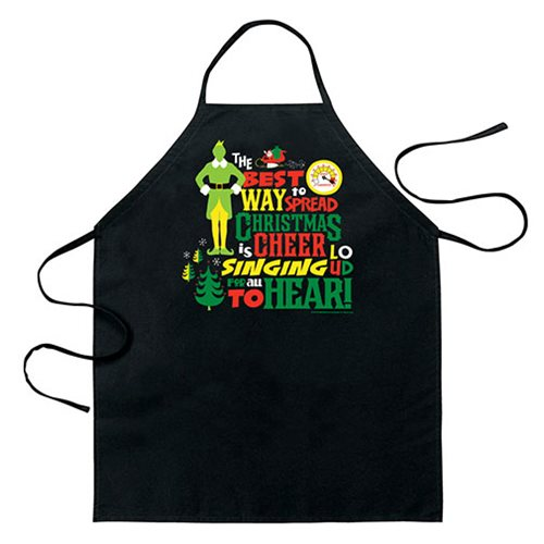 Elf Singing Loud For All Apron
