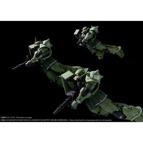 Mobile Suit Gundam: The Origin MS-06C Zaku II Type C Gundam Fix Figuration Metal Composite Action Fi