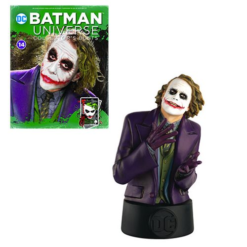 DC Batman Universe Dark Knight Movie Joker Bust with Collector Magazine #14