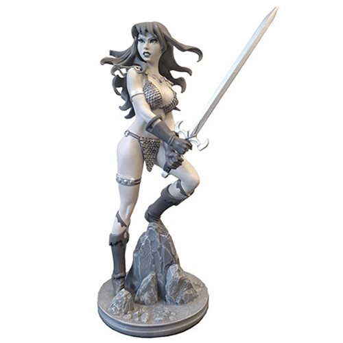 Red Sonja by Amanda Conner Black and White Variant Statue