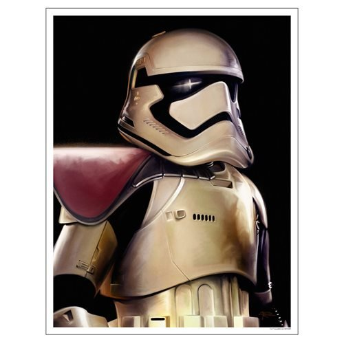 Star Wars: The Force Awakens First Order Stormtrooper Paper Giclee Print