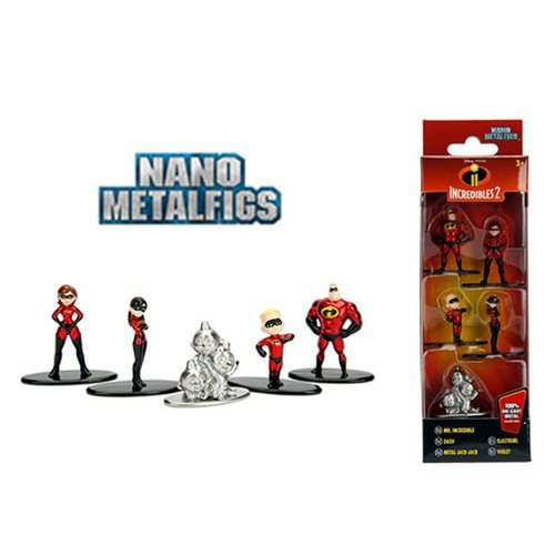 Incredibles 2 Nano Metalfigs Die-Cast Metal Mini-Figure 5-Pack
