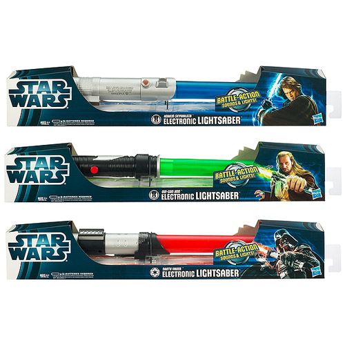 Star Wars Movie Electronic Lightsabers 2012 Wave 2 Rev. 2