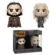 Game of Thrones Jon Snow and Daenerys Targaryen Vynl. Figure 2-Pack