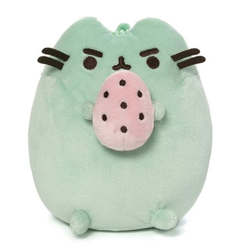 Pusheen the Cat Pusheenosaurus Standing with Egg 6-Inch Green Plush