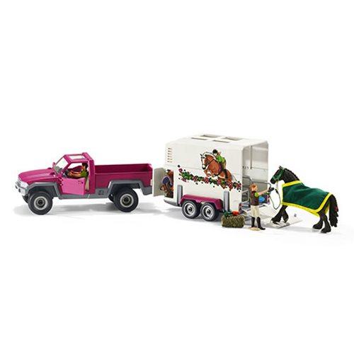 Horse Club Pick Up Truck with Horse Trailer Playset