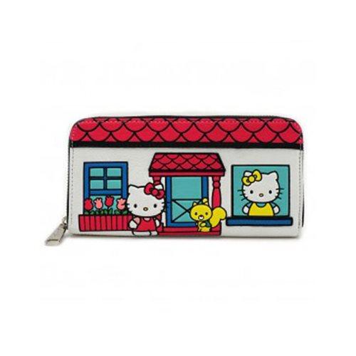 Hello Kitty House Zip-Around Wallet - Entertainment Earth e8389ae66b3b9
