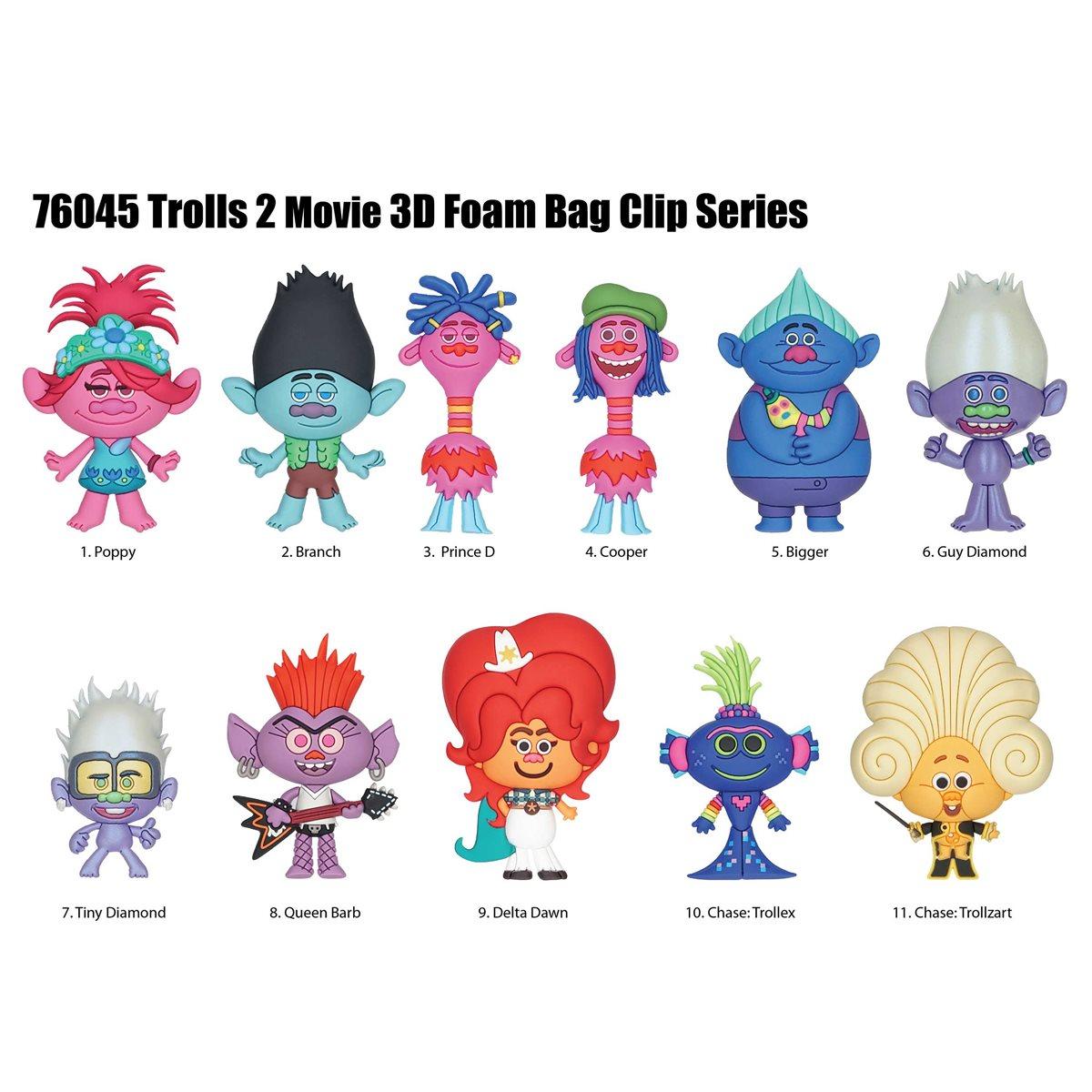 Trolls World Tour Figural Bag Clip 6 Pack