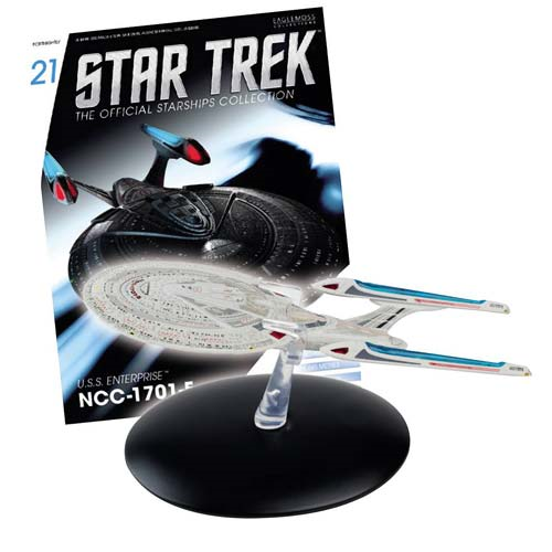Star Trek Starships U.S.S. Enterprise-E Die-Cast Vehicle with Collector Magazine