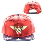 Wonder Woman PU Suit Up Snapback Hat 8f1149f5b54c