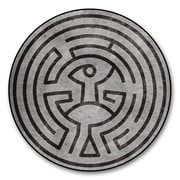 Westworld Maze Round Fleece Blanket
