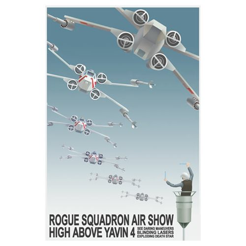 Star Wars Rogue Squadron Airshow by Steve Thomas Canvas Giclee Art Print