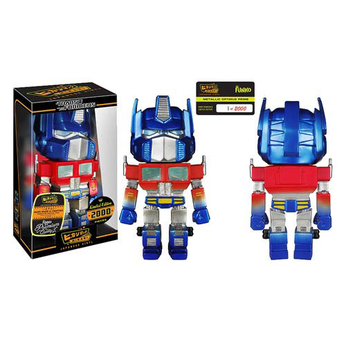 Transformers Metallic Optimus Prime Hikari Vinyl Figure