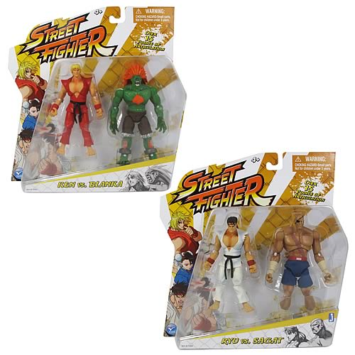 Street Fighter 4-Inch Classic Action Figures 2-Pack Case
