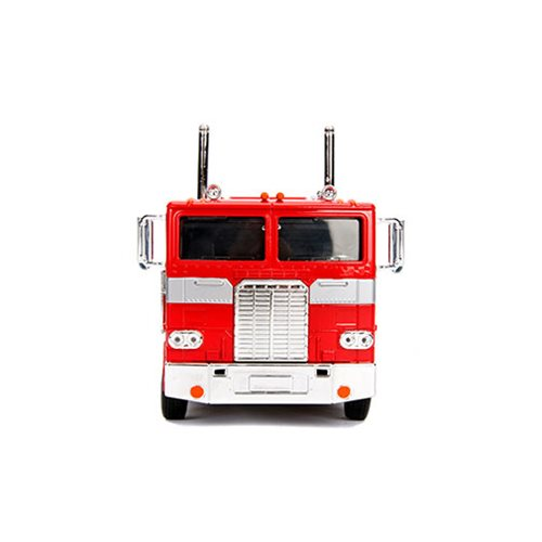 Transformers G1 Hollywood Rides Optimus Prime 1:24 Scale Die-Cast Metal Vehicle