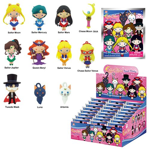 Sailor Moon 3-D Figural Key Chain Random 6-Pack
